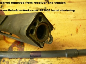 AR-180B Barrel Removed