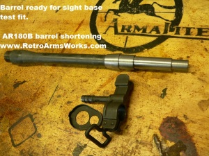 AR-180B Barrel Profiled and Ready for threads
